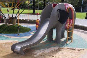 Metal Elephant Slide