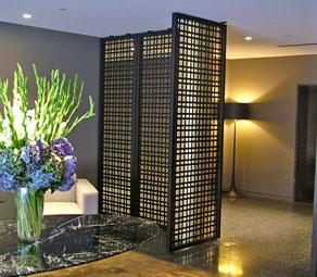 Hotel Woven Metal Screen